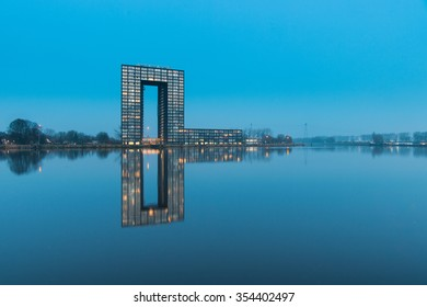 The apartement building Tasman Tower in the city of Groningen, The Netherlands