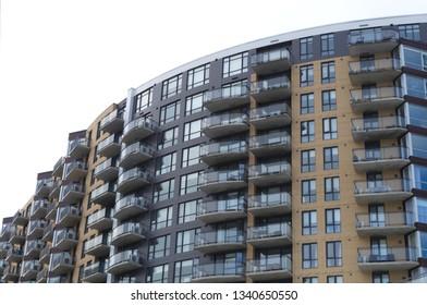 apartment building condo modern residential urban residence