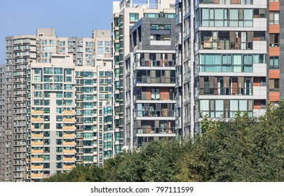 Apartment building, density of living in Chaoyang district, Beijing, China