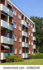 Apartment building, apartment exterior