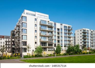 apartment building exterior, residential house facade