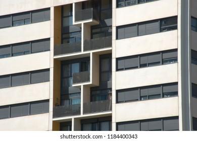 Apartment building facade