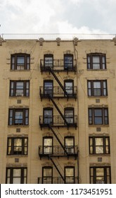 Apartment building facade in New York