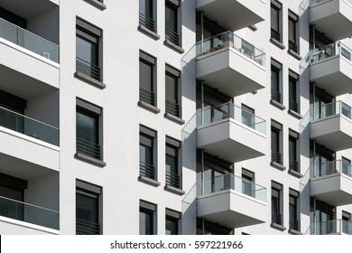 apartment building facade - real estate exterior