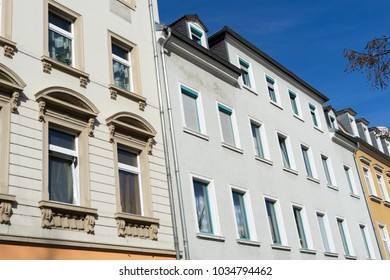 Apartment building with many windows