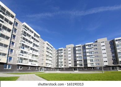 Apartment building in a new residential complex in Moscow