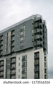 Apartment building in Salford, Greater Manchester, UK.