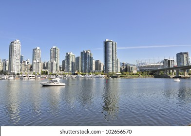 Apartment buildings by False Creek