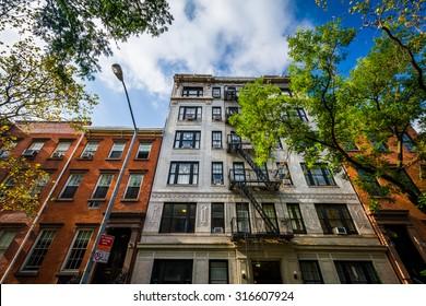 Apartment buildings in  Chelsea, Manhattan, New York.