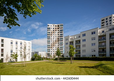 Apartment buildings in the city, modern residential buildings