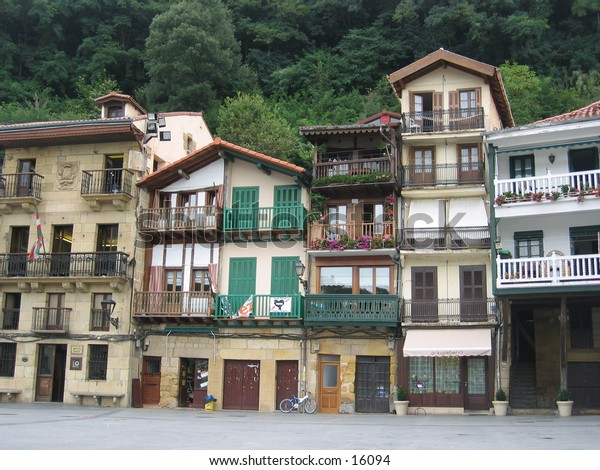 Apartment buildings in Northern Spain.
