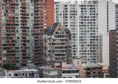 Apartment buildings in Santiago de Chile