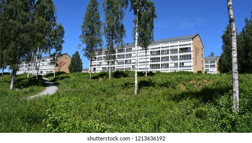Apartment buildings - sunny season - Kongsvinger, Norway (20th july 2018)