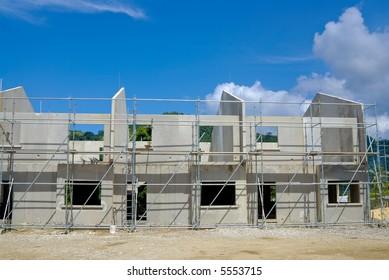 An apartment construction site