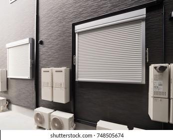 Apartment fire shutter