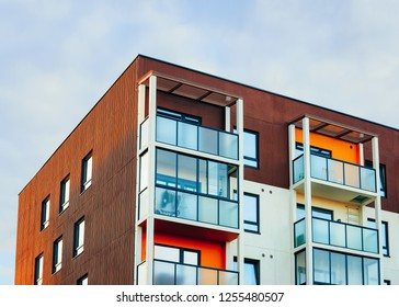 Apartment house residential building real estate concept