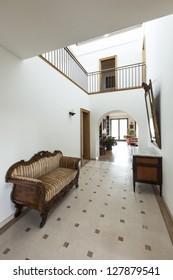 apartment, interior, corridor with antique furniture