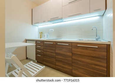 Apartment interior, kitchen