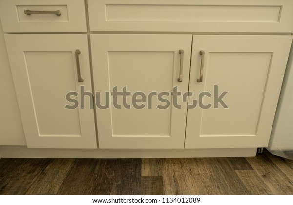 Apartment Kitchen Remodel Southern California Stock Photo ...