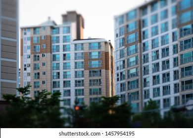 An apartment often seen in Korea.