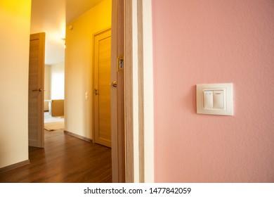 Apartment renovation. Interior under construction. Interior detail of modern flat.