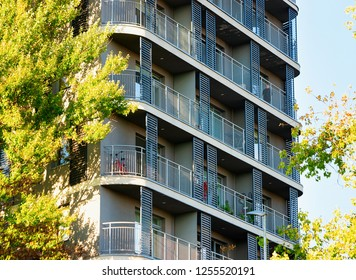 Apartment residential house building complex real estate concept