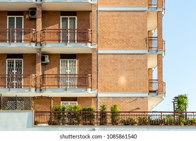 Apartments with balconies and windows in the city of Bari.