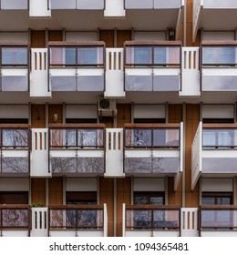 Apartments with balconies and windows in the suburbs of the city of Bari, in the south of Italy.