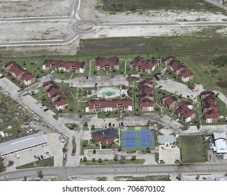 apartments in Port Aransas during hurricane Harvey roof damage