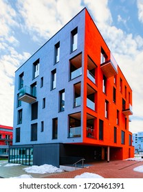 Apartments in residential complex. Housing structure at modern house, Europe. Rental home. Architecture for property investment, Salzburg of Austria.