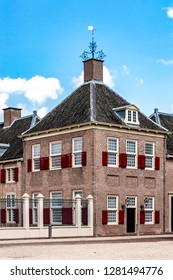 Apeldoorn, Holland, August 14, 2017: Front part building of the royal palace Het Loo