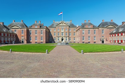 Apeldoorn, The Netherlands, May 8, 2016: The Loo Palace is a former royal palace and is now a national museum located on the outskirts of Apeldoorn in the Netherlands