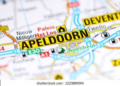 Apeldoorn. Netherlands on a map