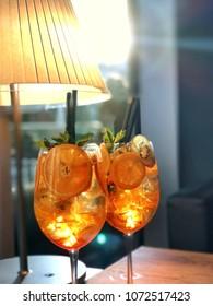 Aperitivo ( Italian happy hour ) cocktails