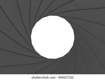 Aperture Background, Abstract, Blank, 3D render, 3D illustration