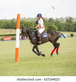 Apes Hill, Barbados - April 4th, 2017: Polo Match at Apes Hill Polo Club. All photos taken with permission at the Apes Hill Polo club where local and international matches were played.