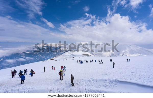 Apharwat Peak Phase 2 World's highest gondola ride from Kungdoori Phase1 is one of the main attractions of Gulmarg tourism summit to enjoy activities like skiing, ski bikes, sledging, snow mobile