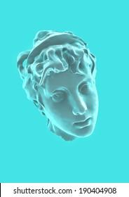 Aphrodite ancient statue head render