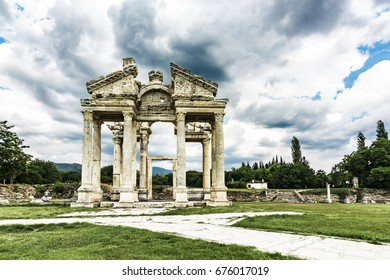 Aphrodite temple in the ancient city of afrodisias