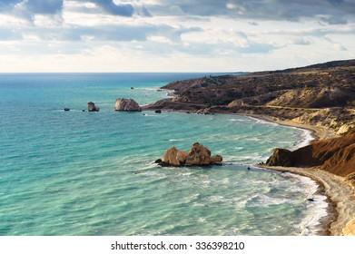 Aphrodite's legendary birthplace. Cyprus
