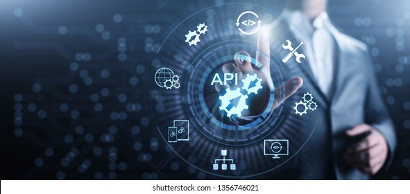 API Application Programming Interface Development technology concept.