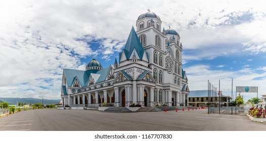 Apia, Samoa - SEPT 30 2016: Cathedral of the immaculate conception in Apia, capital of Samoa.