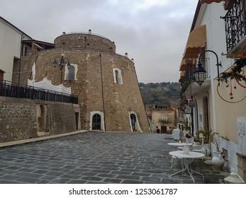 APICE VECCHIO, ITALY - 03 DECEMBER 2018: a street in Apice Vecchio, province of Benevento.