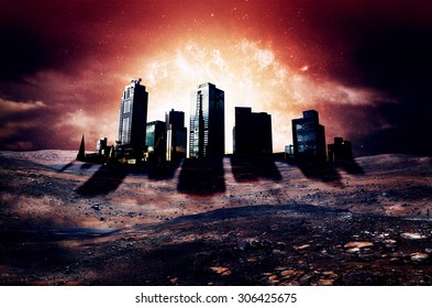 Apocalypse City - Elements of this Image Furnished by NASA