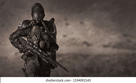 Apocalypse. A lonely warrior wanders through the wasteland.