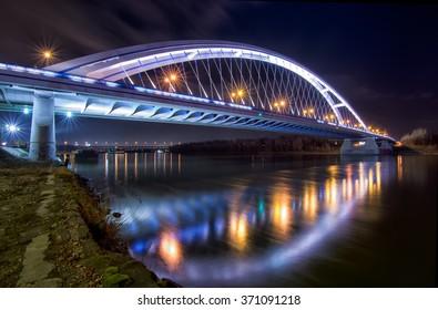 Apollo bridge in Bratislava, Slovakia - Shutterstock ID 371091218