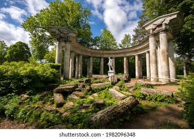 Apollo Colonnade in the Pavlovsky Garden near St. Petersburg - Shutterstock ID 1982096348