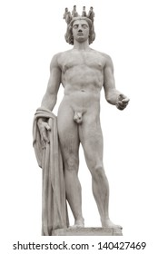 Apollo statue, is the main composition of the fountain du Soleil, on the Place Massena in Nice, France. Clipping path included.