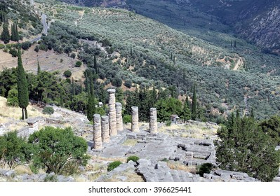 Apollo temple in Delphi