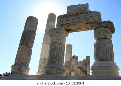 """Çanakkale Apollon Smintheion """"sanctuary is the second most important sanctuary of Troas after the Athena temple in the city of Troy."""